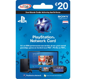 PlayStation Network Card Online Bestellen – Verras met de PlayStation Cadeaukaart voor de PlayStation Films en Games Fan. PlayStation Prepaidkaart voor Games & Films te Kopen in de PlayStation Store.  (Foto PlayStation Netword Card Cadeaukaart  op CadeaukaartIdee.nl)